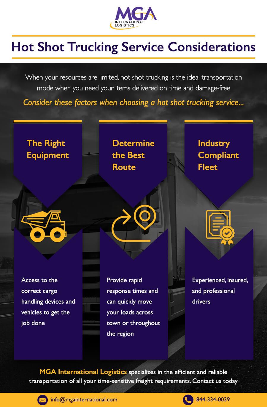 Hot Shot Trucking Services