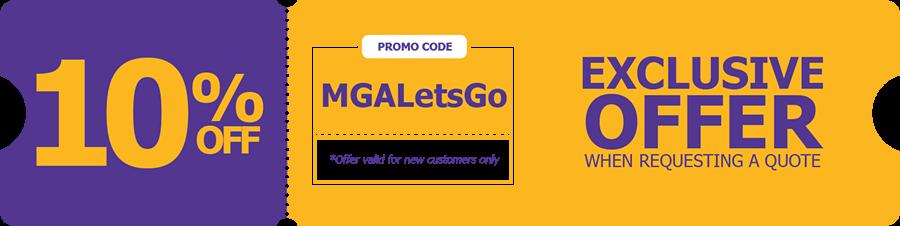 MGA Letsgo Promo Code