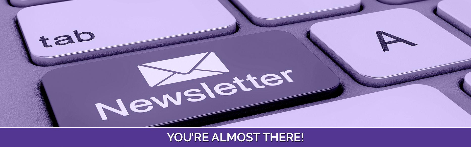Newsletter sign up - Banner